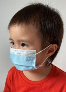 Kids surgical-style face masks